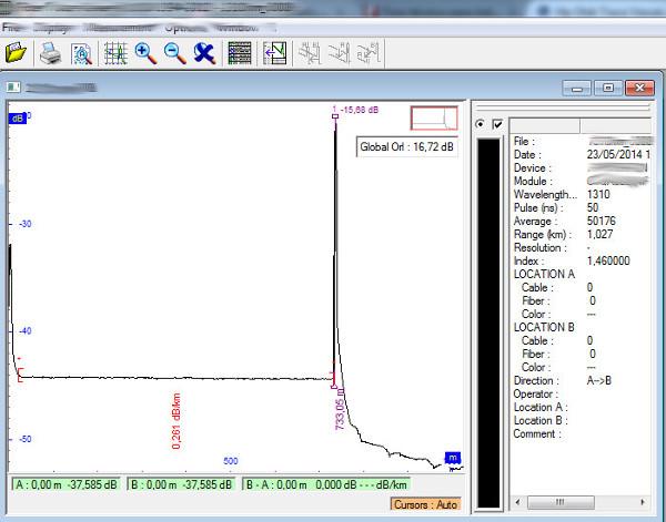 Ejemplo Nº2 de Programa para Visualización de Archivos de OTDR