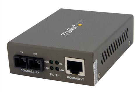 Conversor Gigabit Ethernet RJ45 a SC Multimodo