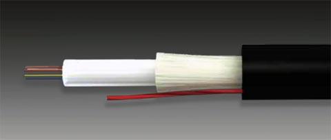Cable de fibra óptica monotubo armado dieléctrico