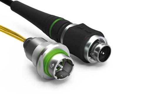 Conector de fibra óptica para entornos extremos