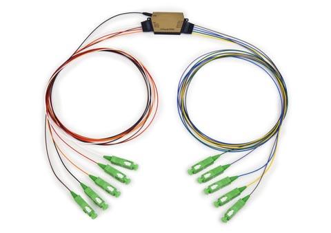 Multiplexores CWDM y splitters PLC