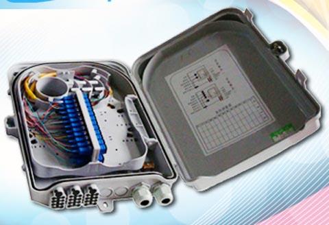 Caja terminal para cables de fibra óptica