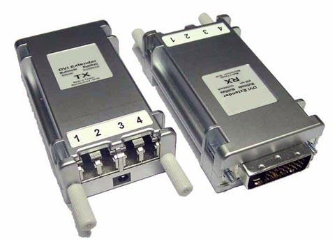Conversores-extensores DVI para fibra óptica