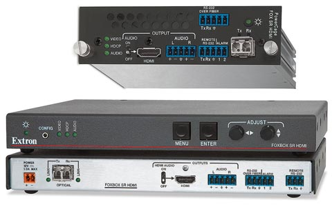 Adaptadores de fibra óptica a HDMI