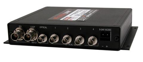 Amplificador de distribución óptica híbrida