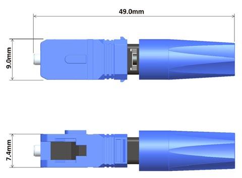 Conector tipo SC de montaje rápido