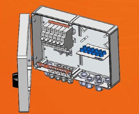 Caja de conexión estanca híbrida para FTTA