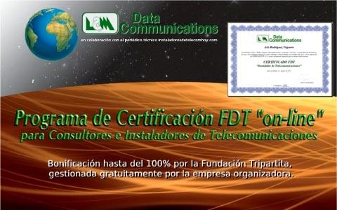 Programa de Certificación FDT para instaladores de Telecomunicaciones