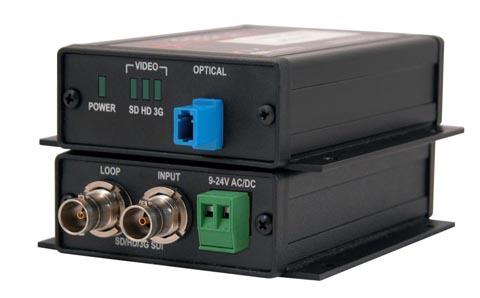 Transmisor de 3G, HD y SD-SDI sobre fibra