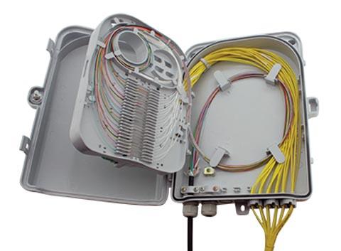 Caja de distribución para interiores y exteriores