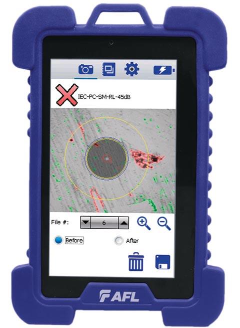 Sistema de inspección para conectores de fibra óptica