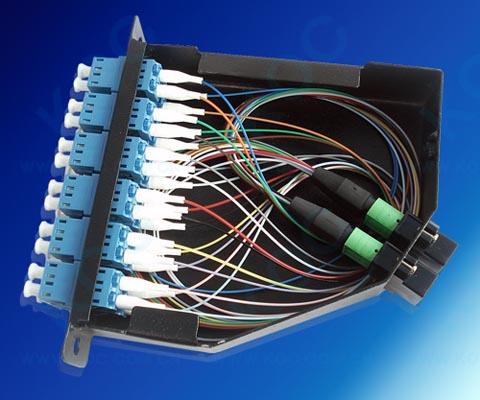 Casette para conectorización de fibras