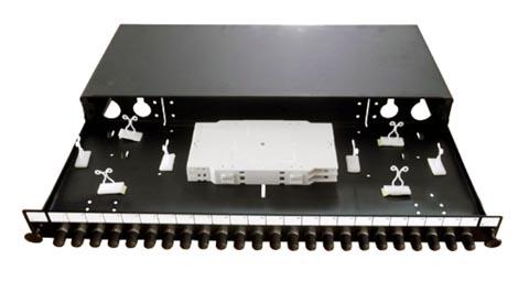 Panel de parcheo ST/FC de 24 puertos