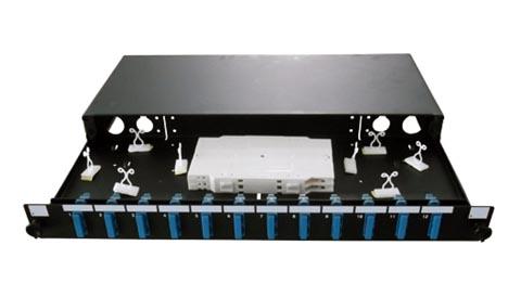 Panel quad SC dúplex / LC de doce posiciones