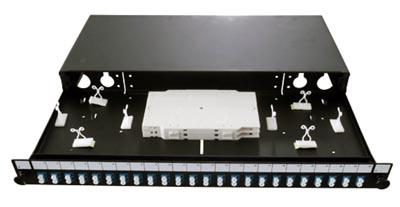 Panel deslizante SC simplex / LC dúplex de 24 posiciones