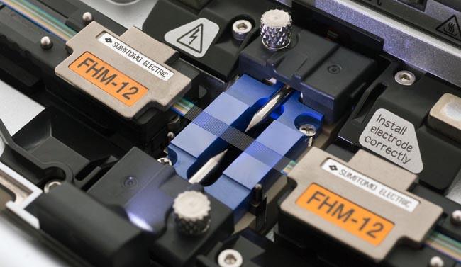 Empalmadora de fusión para cables ribbon