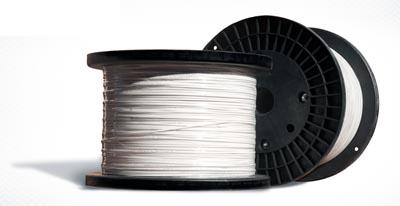 Cable de fibra óptica plano de dos fibras