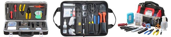 Kits de herramientas para fibra óptica