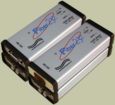 Convertidores de fibra a RS232