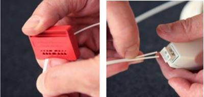 Instalación de fibra óptica plástica sin conectores