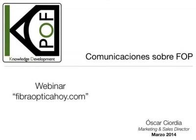 Grabación del Webminar comunicaciones FOP