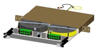 Panel para gestión de fibra óptica