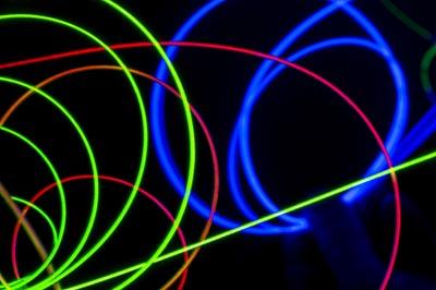 Fibra óptica difusa para iluminación