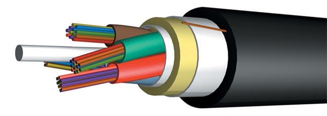 cable de fibra óptica para tendido aéreo