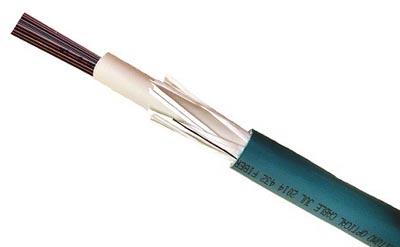 Cable con hasta 432 fibras ópticas