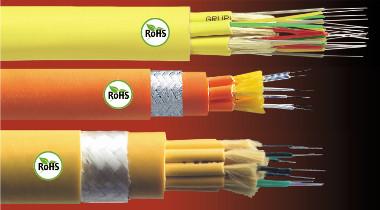 Cables de fibra óptica con certificación RoHS