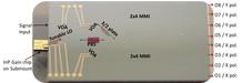 Chip receptor coherente de polarización dual