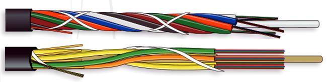 Microcable de fibra óptica