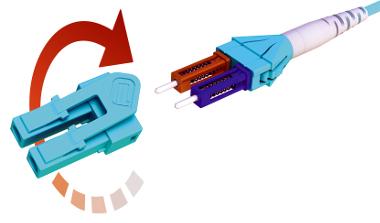Conectores LC de polaridad inversa