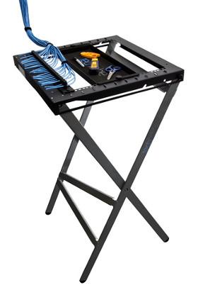Mesa portable para técnicos de instalaciones de cable