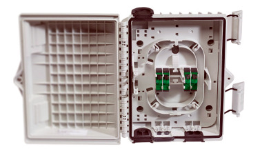 Cajas para unir cables de fibra óptica