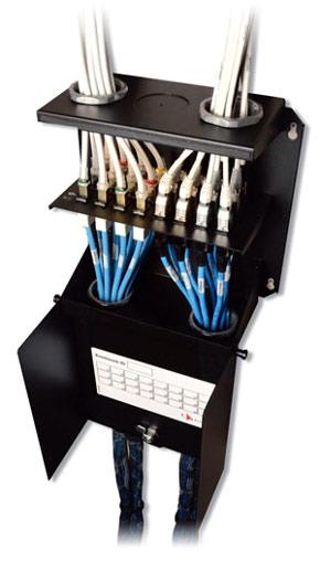 Armario de 24 puertos para cables de fibra