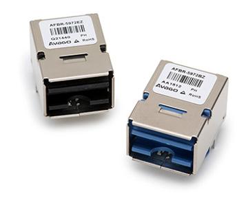 Transceptores POF de 250 MBd