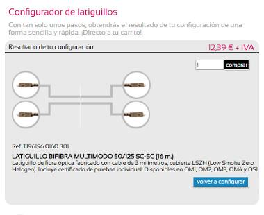 Configurador de latiguillos online