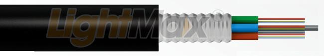 Cable de armadura metálica de 24 fibras