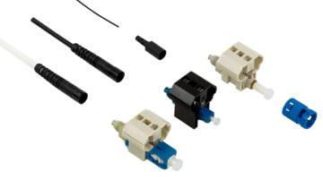 Conectores pre-pulidos instalables en campo