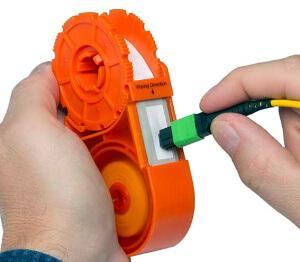 Limpiador de conectores tipo casete