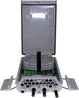 Cajas FTTh para distribución de fibras ópticas