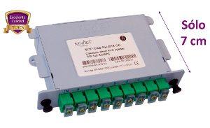 Splitter óptico en caja cassette 1×8