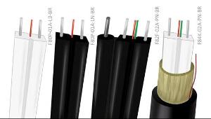 Cables planos de fibra óptica