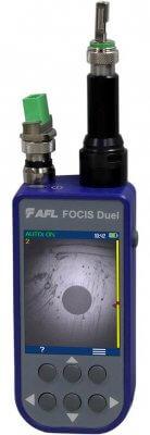 Microscopio portátil para inspección de fibras ópticas