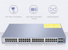 Switches de fibra óptica Gigabit con PoE+