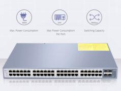 Switches de fibra óptica Gigabit con PoE+