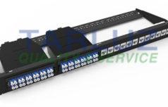 Panel mixto de conexiones de fibra óptica y cobre