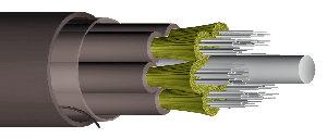 Cableado con un alto número de fibras para interior y exterior