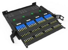 Bandeja enrackable para fibra óptica